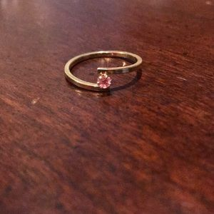 Avon Goldtone Pink Gem Ring Sizes 7 and 8